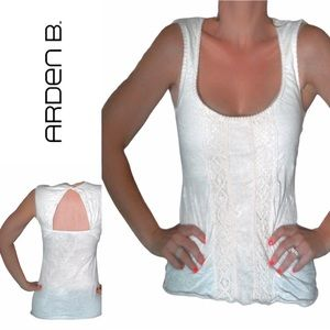 ARDEN B boho chic sleeveless crochet top open back